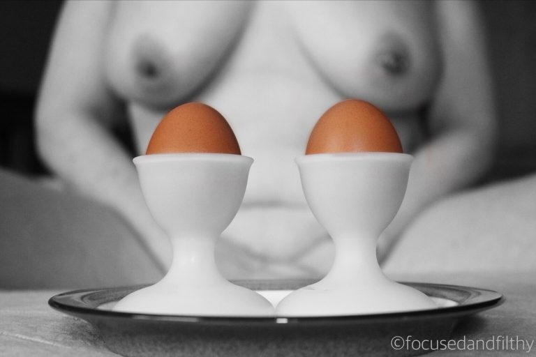 "Day 4 #SinfulSunday ""How do you like your eggs in the morning?""…"