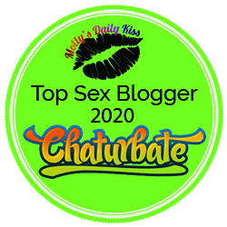 Too Sex Blogger logo 2020 Chaturbate large green circle with a lip print in
